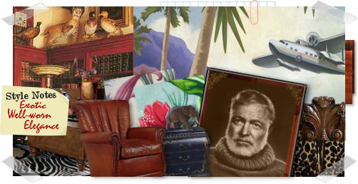 Colonial decor interior home design home decorating Ernest hemingway inspired decor